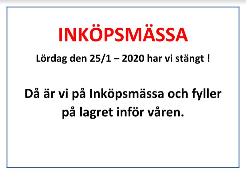 Information: Inköpsmässa